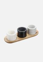 Kitchen Craft - Artesà marble three piece serving set