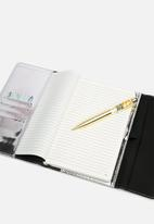 Typo - A5 bangle notebook - silver patent