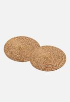 Kitchen Craft - Artesà bamboo placemats set of 2 - natural