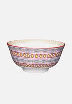 Kitchen Craft - Bright geometric snack bowl