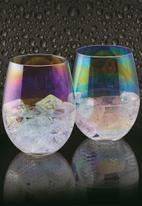 Kitchen Craft - Lustre tumbler set of 2 - iridescent