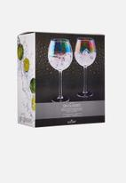 Kitchen Craft - Lustre gin glass set of 2 - iridescent