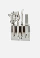 Kitchen Craft - Five piece cocktail tool set - silver