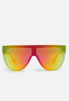 Missguided - Reflective visor sunglasses - yellow