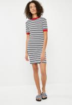 Superbalist - Ringer tee dress  stripe - black & white