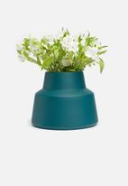 Grey Gardens - Hex vase - teal