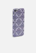 Hey Casey - Moroccan market marble phone cover - blue