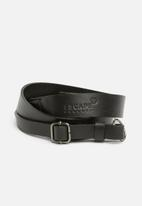 Escape Society - Leather camera sling - black