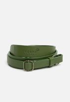 Escape Society - Leather camera sling - olive green