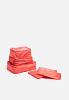 Escape Society - Packing cube set of 3 - dusty pink