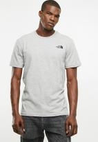The North Face - M S/S simple dome tee - Medium grey heather