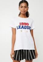 Superbalist - Number slogan tee - white