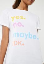 Superbalist - Yes tee - white