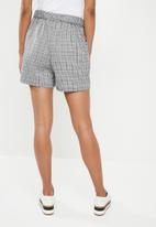 Superbalist - Check self tie shorts - multi