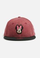 New Era - Kids Minnie mouse snapback cap - maroon & charcoal
