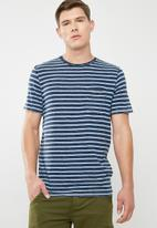 Jack & Jones - Stuart crew neck tee - blue