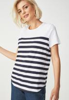 Cotton On - The crew T-shirt  - navy & white