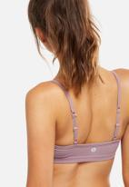 Cotton On - Workout yoga crop top - mauve