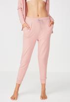 Cotton On - Super soft slim fit pant - pink