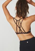 Cotton On - Recycled strappy sports crop top - multi