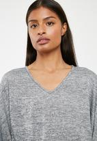 Superbalist - Cut and sew twofer bodysuit - grey