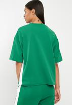 Superbalist - Boxy sport tee - green & white