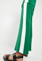 Superbalist - Pull on knit culotte - green & white