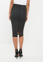 Superbalist - Pull on bodycon skirt - black & white