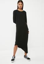 Superbalist - Asymetric back cut out midi dress - black