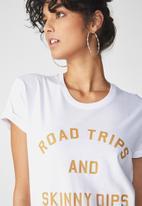 Cotton On - Tbar fox T-shirt - white
