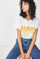 Cotton On - Tbar fox graphic T-shirt - white