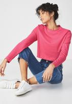 Cotton On - The urban long sleeve top - pink