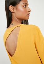 Superbalist - Asymetric back cut out midi dress - yellow