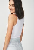 Cotton On - Maxine sleeveless mock neck tank - white
