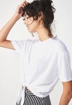 Cotton On - Charlise tie front top - white