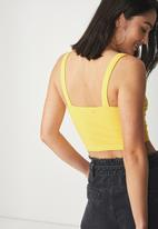 Cotton On - Jenna bustier cami - yellow