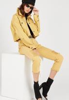 Supré  - Crop destroy jacket - yellow