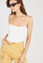 Supré  - Square neck bodysuit - white