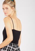 Supré  - Square neck bodysuit - black