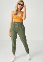 Supré  - Luxe wrap crop top - yellow