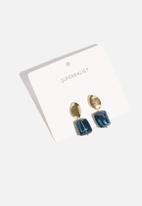 Superbalist - Emmy earrings - blue & gold