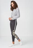 Supré  - Graphic leggings - charcoal