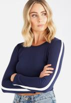 Supré  - Long sleeve fitted top - navy