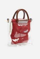 dailyfriday - Ciara clear bag - red