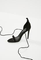 Missguided - Lace up ankle tie barely there - black
