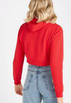Supré  - Cropped zip through hoodie - red
