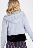 Supré  - Cropped zip through hoodie - blue