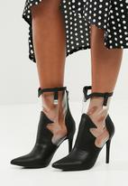 Missguided - Perspex western boot - black