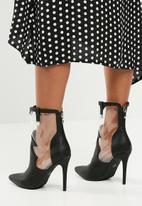 Missguided - Perspex western boot - black