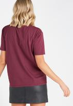 Supré  - Royal printed tee - burgundy